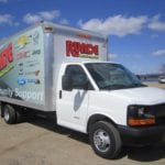 Runde Community Support truck at the East Dubuque boat ramp