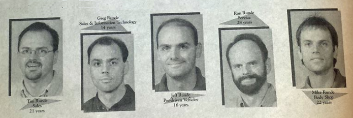 Photos of the 5 Runde boys from a newspaper clipping