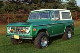 Vintage green Ford Bronco