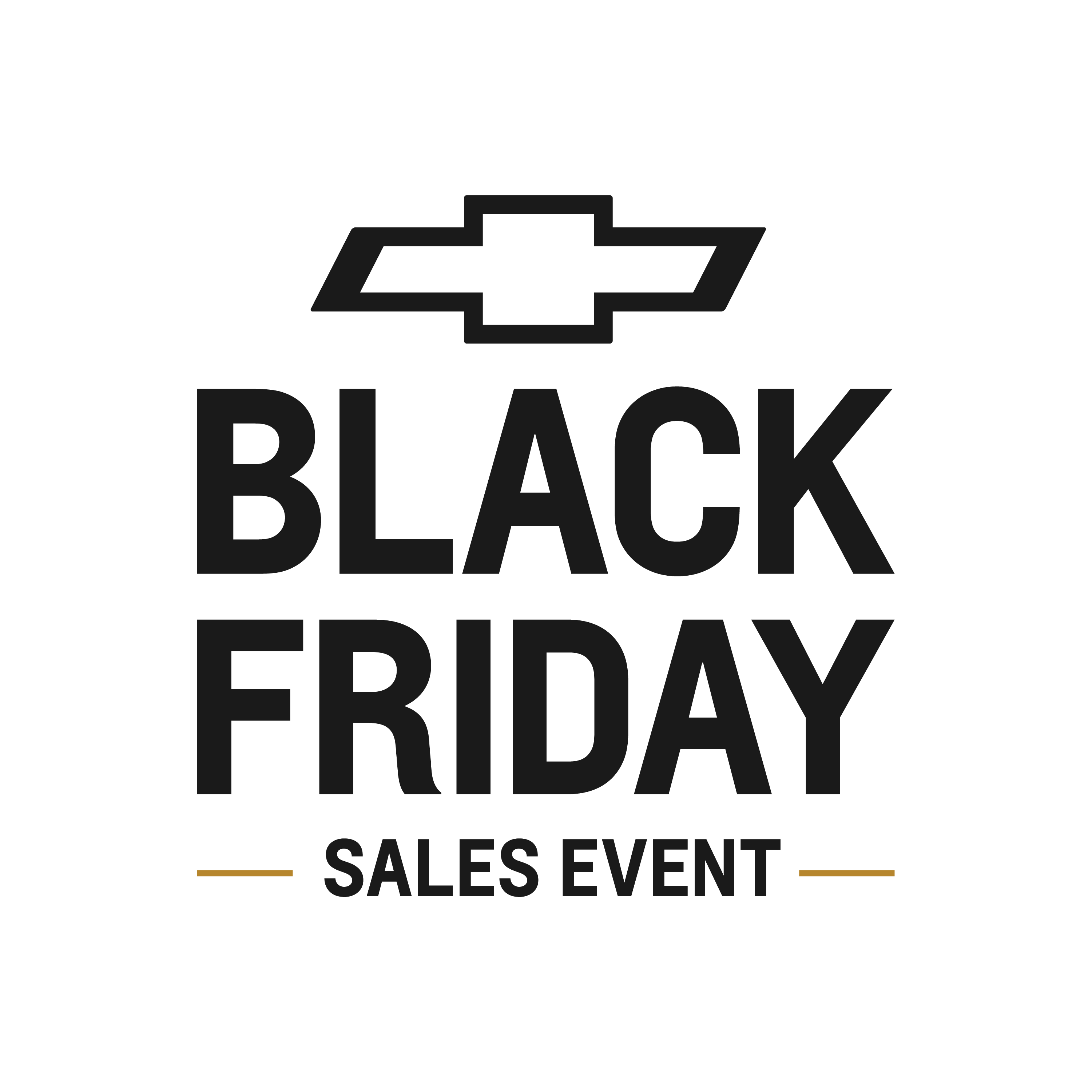 Chevy Logo with black Friday sales event message