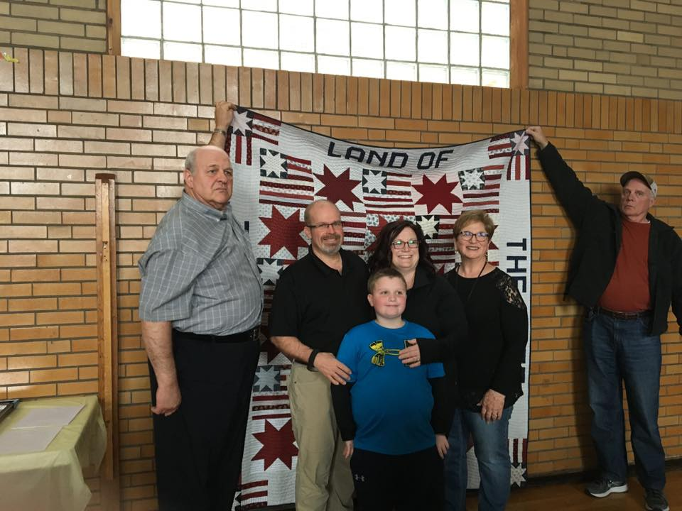 Joe Haverland and his immediate family